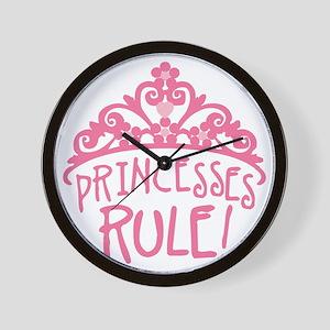 Princesses Rule Wall Clock