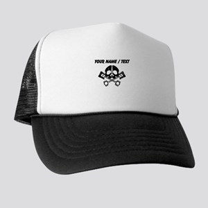 Custom Gearhead Skull Trucker Hat