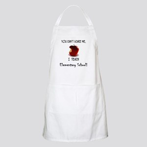 No scare elementary school teacher BBQ Apron