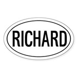 Richard Oval Sticker