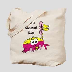 Susie Sixteenth Note Tote Bag