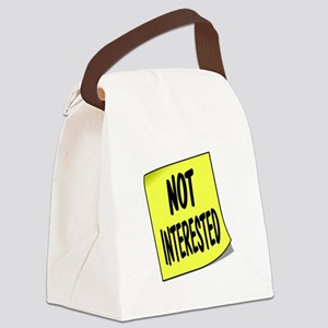 NOT INTERESTED Canvas Lunch Bag