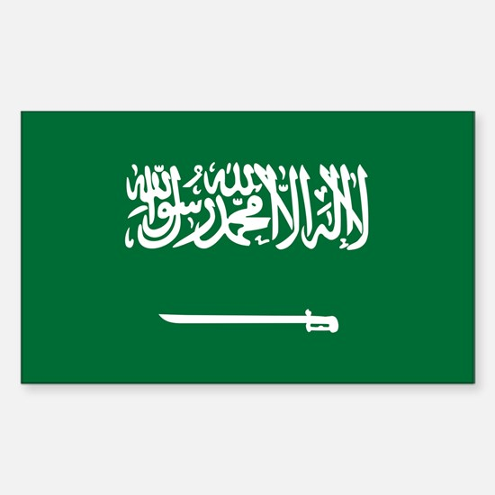 Saudi Arabia Flag Sticker (Rectangle)