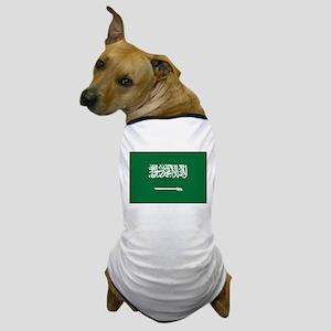 Saudi Arabia Flag Dog T-Shirt
