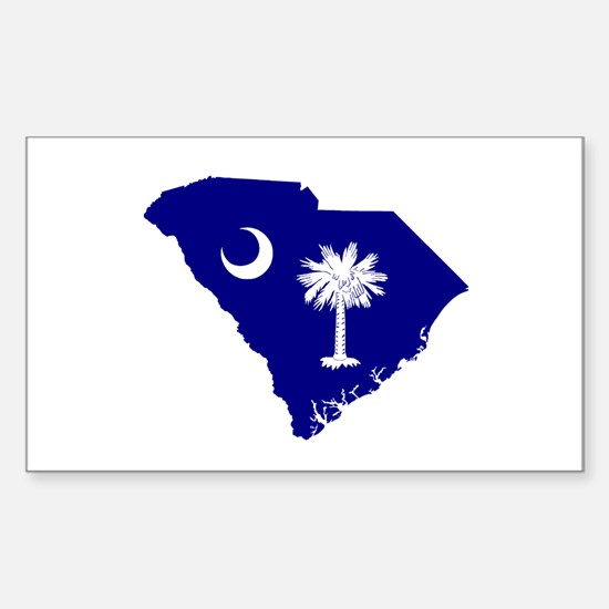 South Carolina Palmetto Rectangle Decal