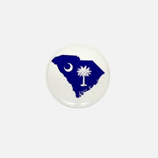 South Carolina Palmetto Mini Button
