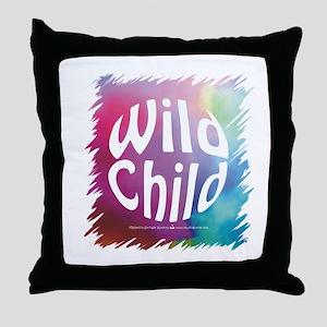 Wild Child Retro Sixties Throw Pillow