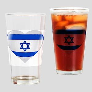 Israel in my Heart Drinking Glass