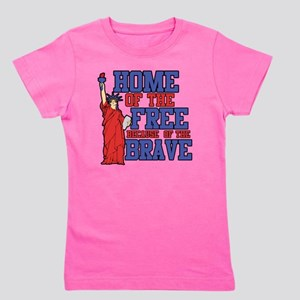 Home of the free because of the brave Girl's Tee