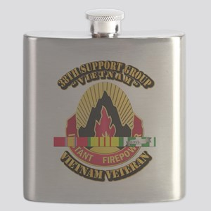 38th Support Group w SVC Ribbon Flask