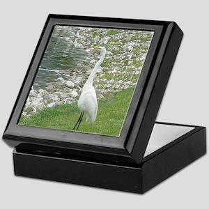 The Egret man allover Keepsake Box
