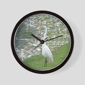 The Egret man allover Wall Clock