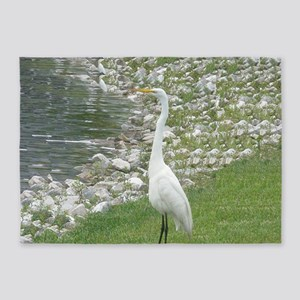 The Egret man allover 5'x7'Area Rug