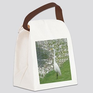 The Egret man allover Canvas Lunch Bag
