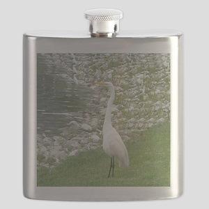 The Egret man allover Flask