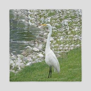 The Egret man allover Queen Duvet