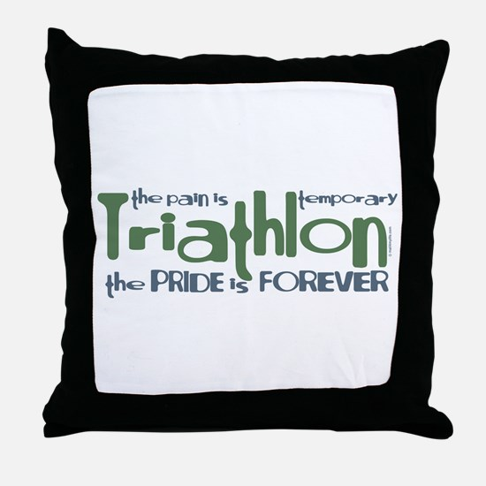 Triathlon - The Pride is Forever Throw Pillow