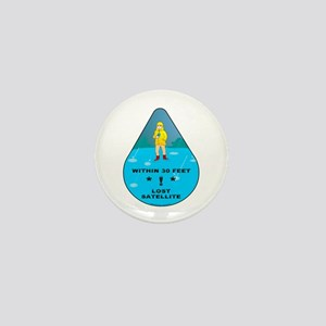 Rain Geocacher Mini Button