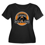High roller Women's Plus Size Scoop Neck Dark T-Sh