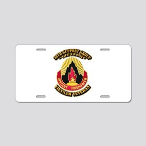 38th Support Group Aluminum License Plate