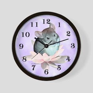 Chin Lily Purple Wall Clock