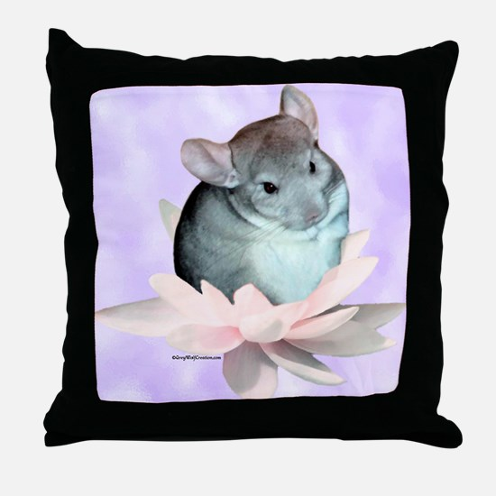 Chin Lily Purple Throw Pillow
