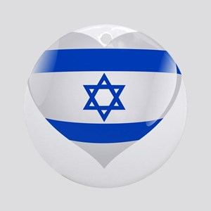 Heart for Israel Round Ornament