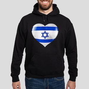 Heart for Israel Hoodie (dark)