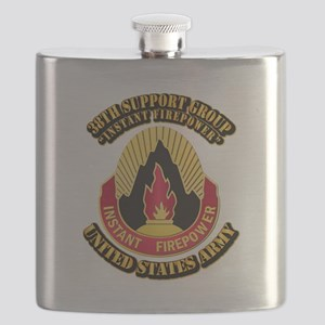 38th Support Group with Text Flask