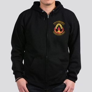 38th Support Group with Text Zip Hoodie (dark)
