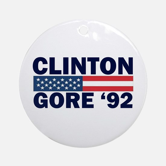 Clinton - Gore 92 Ornament (Round)