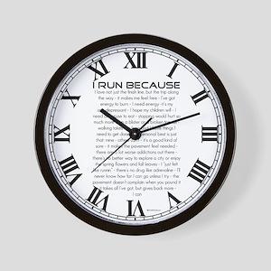 I Run Because Wall Clock