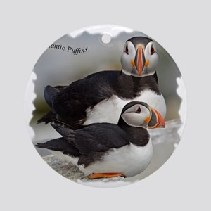 Puffin Tee Round Ornament