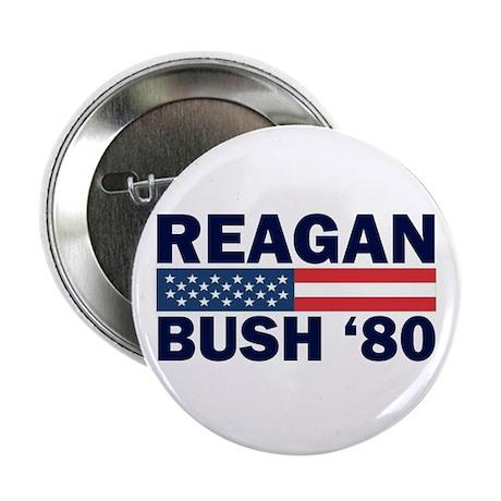 Reagan - Bush 80 Button
