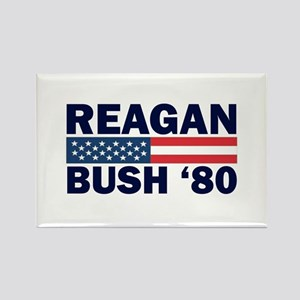 Reagan - Bush 80 Rectangle Magnet