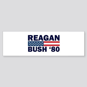 Reagan - Bush 80 Bumper Sticker