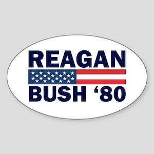Reagan - Bush 80 Oval Sticker