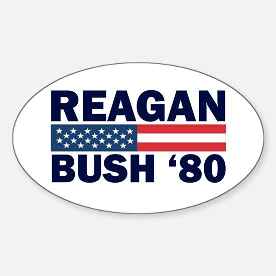 Reagan - Bush 80 Oval Decal