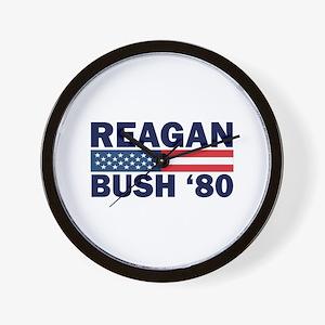 Reagan - Bush 80 Wall Clock