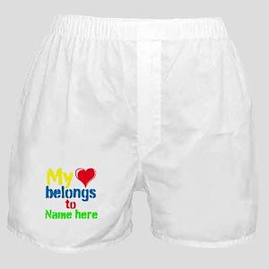 Personalizable,My Heart Belongs To Boxer Shorts