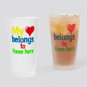 Personalizable,My Heart Belongs To Drinking Glass