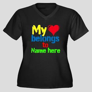 Personalizable,My Heart Belongs To Women's Plus Si