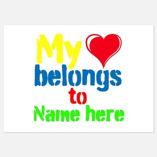 Personalizable,My Heart Belongs To Invitations
