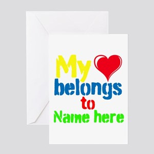 Personalizable,My Heart Belongs To Greeting Card