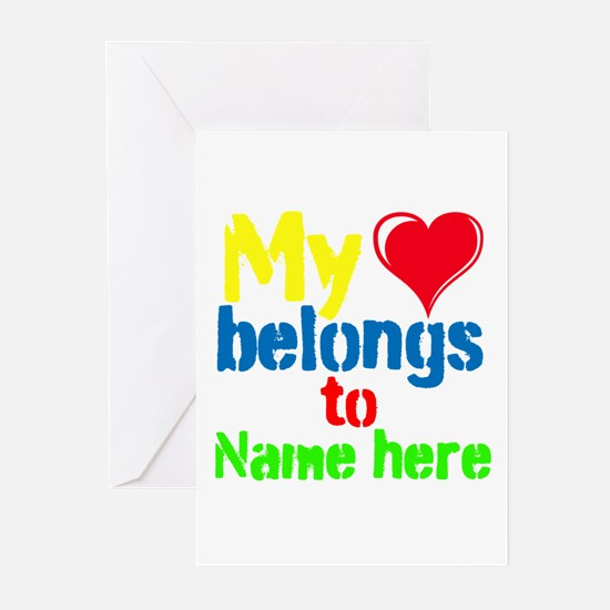 Personalizable,My Heart Belongs To Greeting Cards