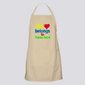 Personalizable,My Heart Belongs To Apron