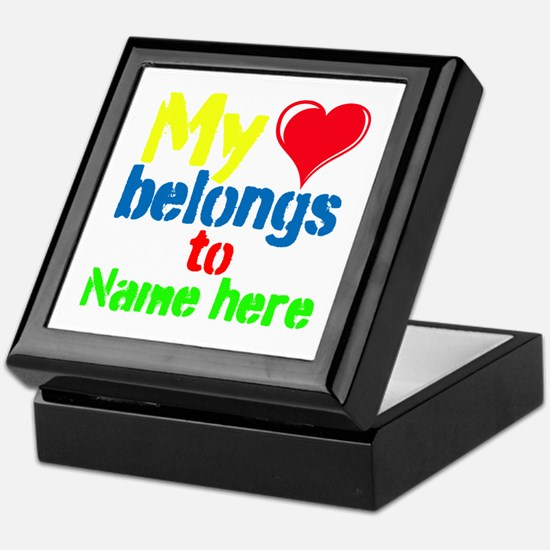Personalizable,My Heart Belongs To Keepsake Box