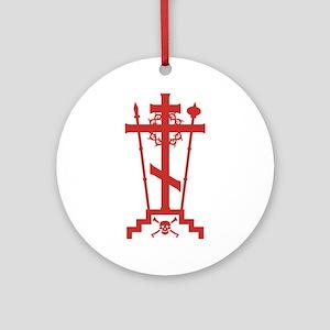 Orthodox Schema Cross Ornament (Round)