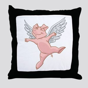 Flying Pig Throw Pillow