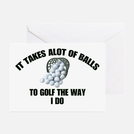 Golf - Alot of Balls Greeting Cards (Pk of 10)